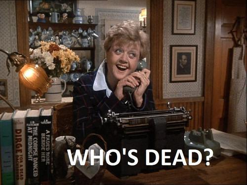 "Tonight, on ""Murder, She Wrote"""