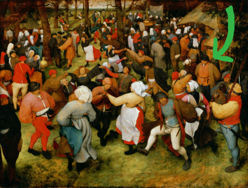 AN OPEN LETTER TO THAT WEIRD GUY JUST STANDING AND WATCHING STUFF IN BREUGHEL'S WEDDING DANCE