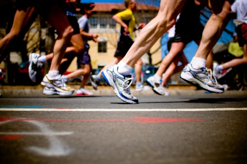 Cheering on a Long-Distance Runner