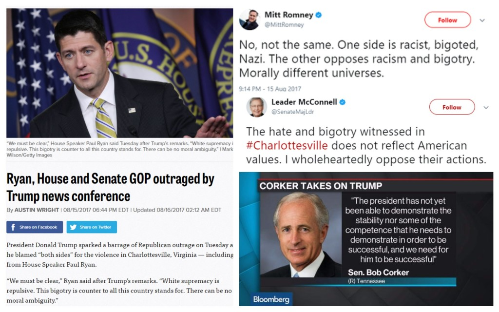 The Rank Hypocrisy of Republican Condemnation of Charlottesville