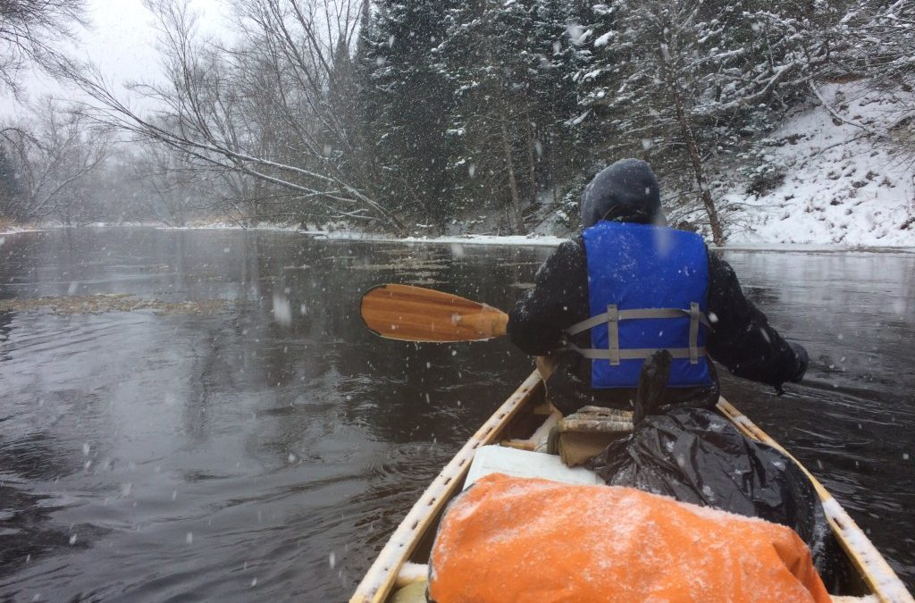 I Took the Cedar-Strip Canoe Down the Most Remote River in Michigan… in the Winter