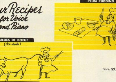Singing the Cookbook